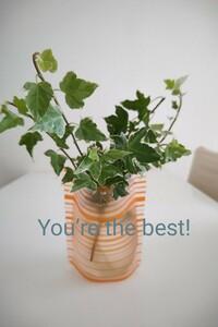 アイビー 観葉植物 インテリア 小物 飾り グリーン 癒し 花びん 花器