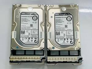 ☆【2個まとめ売り】DELL HDD 4TB SAS 6Gps☆ST4000NM0063/未使用品/Z614