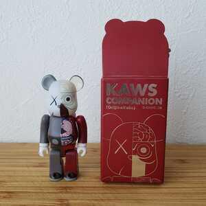 BE@RBRICK KAWS Companion 人体模型 100% レッド 箱 MEDICOM TOY メディコムトイ ベアブリック カウズ OriginalFake オリジナルフェイク