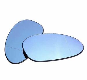 即納●送料込み●BMW E90/E91/E92/E82/E88/E86/E85/320i /323i/325i/335i ブルー サイド ドアミラー ガラス 前期 ドアミラー 1ペア