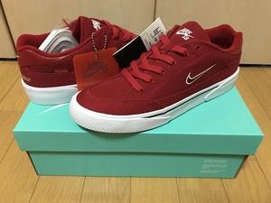 即決 Supreme × Nike SB GTS QS Red 27cm レッド US9 BOX LOGO 赤 シュプリーム 801621-661