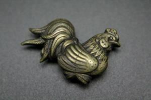 ニワトリ / 帯留め / チャボ / 矮鶏 / 和装小物 / 時代物 / 和服
