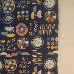 YUWA シャルマンコレクション オックス生地 ネイビー系 生地巾約108cm×約50cm