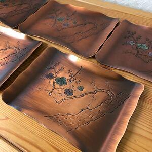 銅製、菓子皿5枚セット