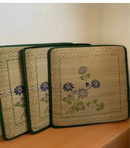 花ござ座布団 3枚組 箱付 日本の民芸