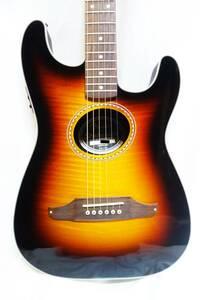 ★レア!Fender エレアコ「STRATACOUSTIC PREMIER 3TS」 フレイムトップ 美品 G-2109