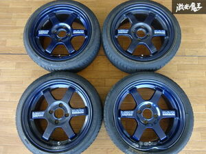 RAYS Rays VR TE37 forged wheel 15 -inch 5.5J +45 measurement PCD100 4 hole 4ps.@ translation have 1 pcs distortion light car spare .* shelves 1H12