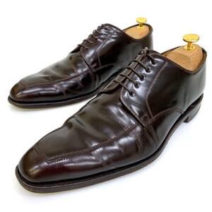 A @ 日本製 '洗練されたデザイン' REGAL リーガル 本革 レザー ビジネスシューズ 革靴 レースアップ Vチップ SIZE:26cm メンズ 紳士靴 BRN