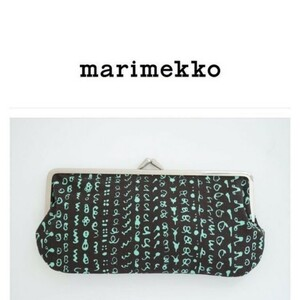 Marimekkoマリメッコ新品がま口 ポーチ SILMALASIKUKKARO