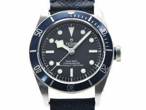 [3年保証] チューダー チュードル メンズ ブラックベイ 79230B I番 新品仕上済 革ベルト 黒文字盤 自動巻き 腕時計 中古 送料無料