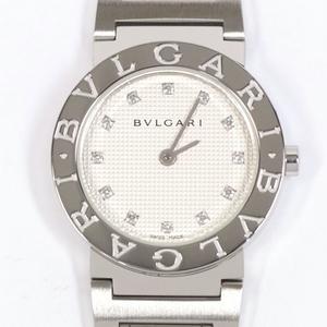 BVLGARI ブルガリ ブルガリ BB26SS ダイヤ12P レディース クォーツ 時計 中古美品