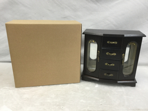 【新品】アンティーク アクセサリーケース 収納ボックス 木製 レトロ おしゃれ 指輪 ネックレス ピアス 小物入れ FK