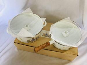 キャセロール ソースパン 若鳩製作所 リトルグレイラビット 調理器具 昭和レトロ ホーロー 片手鍋 両手鍋 耐熱ガラス