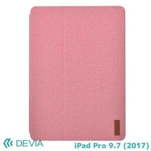 【即決】 iPad9.7ケース 合皮レザーカバー シンプル Devia Flax Flip Case iPad 9.7(2017NEW) Pink