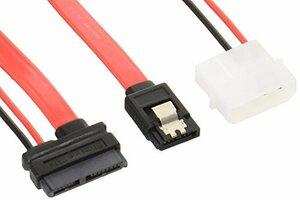 変換名人 Slim Line SATA - SATA(7ピン)+SATA電源(15ピン)変換ケーブル SSA(新品未使用品)