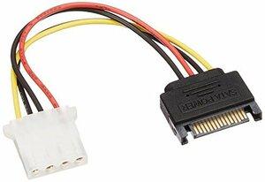 変換名人 SATA電源(15ピン) → ペリフェラル(大4ピン)変換ケーブル SP-IDEP(新品未使用品)