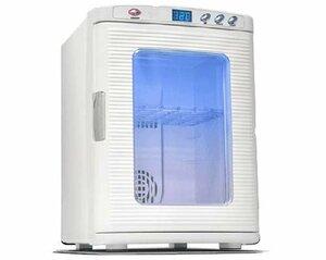 life_mart ポータブル冷温庫 25L ホワイト 大容量 保冷・保温に適した(中古 良品)