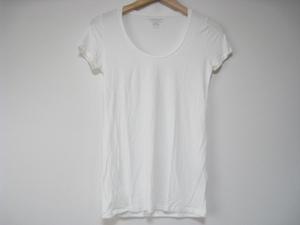 MAJESTIC FILATURES マジェスティック フィラチュール トップス Tシャツ カットソー 半袖 丸首 白 ホワイト サイズ1 無地 シンプル