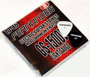 FERNANDES GS1500L フェルナンデス 日本製エレキギター弦 3パック弦 ライトゲージ 010-046 Light Gauge ピック付き