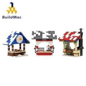 ☆最安値☆ レゴ 互換 出店 雪の積もった屋台 マーケット 315ピース