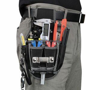 送料無料 新品 工具差し 腰袋 工具収納 工具入れ ウエストツールポーチ ツールバッグ ドリル ドライバー DIY 屋外作業 ブラック