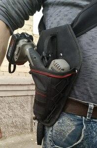 新品 送料無料 電動工具入れ 腰袋 ツールババッグ 工具収納バッグ 工具差し ドライバー入れ 多機能ポーチ ドリル 大工 DIY 黒 赤