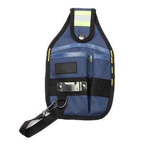 新品 工具入れ ウエストツールバッグ 工具差し 腰袋 工具収納 多機能 道具袋 オックスフォード 防水 サイズ調整 DIY 黒 青