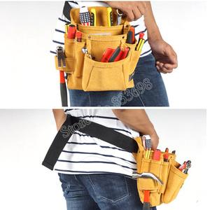 新品 送料無料 ツールウエストバッグ 工具収納 工具入れ 腰袋 工具差し 多機能 ツールポーチ ワークポケット 調節可能ベルト DIY 黄色