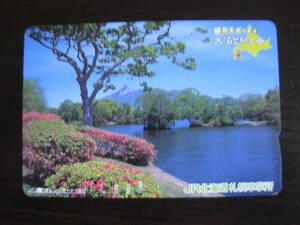 使用済 大沼と駒ヶ岳 JR北海道 札幌車掌所 オレンジカード 1つ穴
