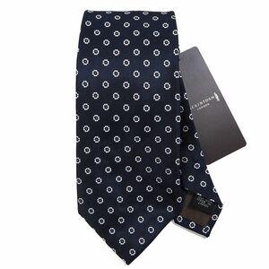 新品 定価1.5万 マッキントッシュロンドン シルク100% ミニフラワー ネクタイ MACKINTOSH LONDON 絹 K564 日本製 紺