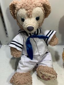 東京ディズニーシー限定 シェリーメイぬいぐるみ Sサイズ ダッフィーセーラーコスチューム ジェラトーニ リボン着用