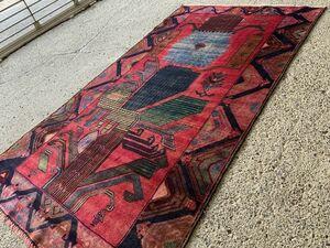 183×104cm アフガニスタン・ヘラート・アドラスカン産 絨毯 ラグ アンティーク家具 マジック カーペット 04AMBRL210804007D