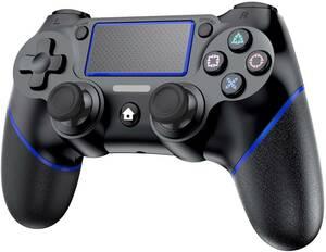 ワイヤレスコントローラー Bluetooth接続 600mAHバッテリー 二重振動 無線 高耐久ボタン ゲームパット搭載 充電ケーブル 付き