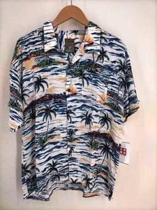 パイナップルジュース Pineapple Juice ボタニカル柄アロハシャツ メンズ XL 中古 古着 210820