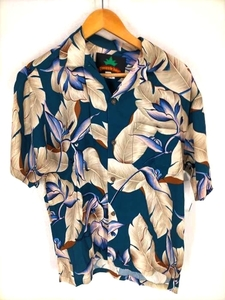パイナップルジュース Pineapple Juice オープンカラー レーヨンアロハシャツ メンズ S 中古 古着 210820