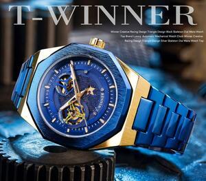 【新品】T‐WINNER メンズ 腕時計 機械式自動巻き