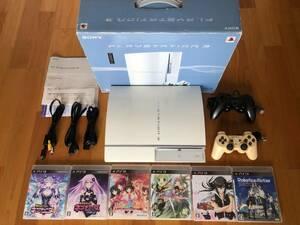 動作品 すぐに遊べる PS3本体(大容量320GB)+コントローラ2個+ソフト6本(神次元ゲイム ネプテューヌV他)+接続ケーブル(HDMI含む) CECHH00