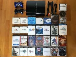 動作品 PS1/2/3ソフトがプレイできるPS3(大容量320GB)+FFシリーズ1,2,4~14(ソフト27本!)+コントローラ2個 CECHA00 プレイステーション