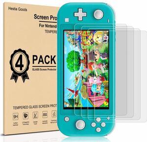 4枚入り Nintendo Switch Lite ガラスフィルム 液晶保護フィルム 日本硝子素材 スイッチライトフィルム強化保護