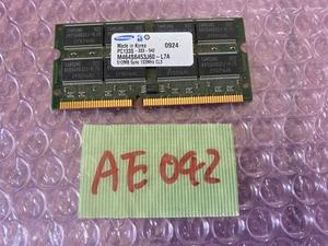 [ sending cat pohs 360 jpy ]Samsung M464S6453J60-L7A PC133S-333-542 512MB PC133 SDRAM SODIMM