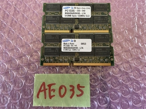 [ sending cat pohs 360 jpy ]Samsung M464S6453HV0-L7A PC133S-333-542 512MB PC133 SDRAM SODIMMx2 sheets total 1024MB