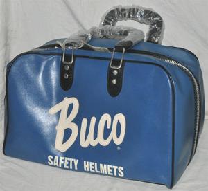 REAL McCOY'S BUCO リアルマッコイズ ブコ バッグ レザーバッグ ヘルメットバッグ 青 ブルー
