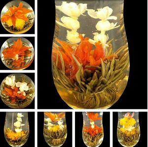 工芸茶10個入り 手作りお茶 緑茶 ハーブティー 花茶 美容茶 ジャスミン茶