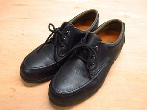 ミドリ MIDORI 安全靴 24 EE ブラック 革製 管理N816E