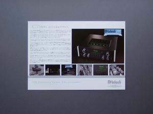 【カタログのみ】McIntosh C70 tube preamplifier 検 真空管 マッキントッシュ プリアンプ 70周年記念