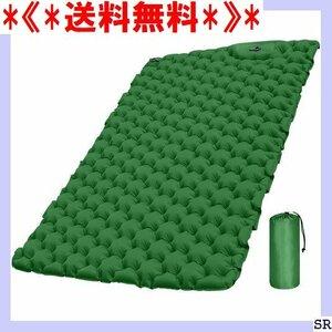 《*送料無料*》 ダブル ダークグリーン 収納袋付き キャンプ用品 ン+TPU IRPO エアマット キャンプ エアーマット 63