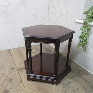 イギリス アンティーク 家具 SALE セール コーヒーテーブル サイドテーブル 飾り棚 花台 木製 マホガニー 英国 SMALLTABLE 6964b 特価