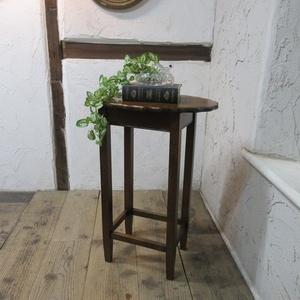 イギリス アンティーク 家具 SALE セール オケージョナルテーブル サイドテーブル 花台 木製 オーク SMALLTABLE 6098c