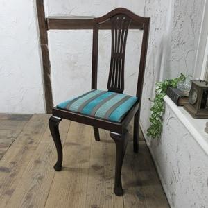 イギリス アンティーク 家具 クイーンアンチェア ダイニングチェア 猫脚 椅子 イス 木製 英国 QUEENANNCHAIR 4267d