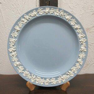 イギリス ヴィンテージ雑貨 ウェッジウッド クイーンズウェア エンボス ディナープレート 皿 キッチン雑貨 英国製 plate 1820sa